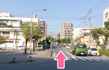 竹下駅から直進 徒歩20分 車で8分